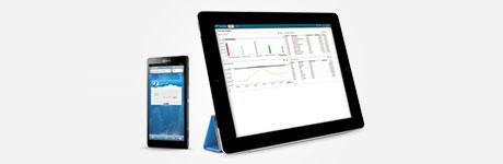 Surfplatta och mobiltelefon med Visma.net